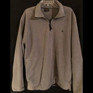 Nautical quarter zip sweater/jacket, grey, XL